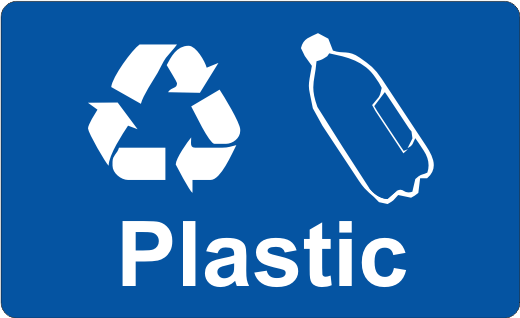 Recycling Sticker - Plastic - £0.25 : Wheelie Rubbish Signs