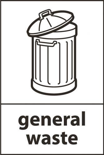 Recycling Sticker - General Waste (WRAP Compliant)