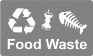 Recycling Sticker - Food Waste