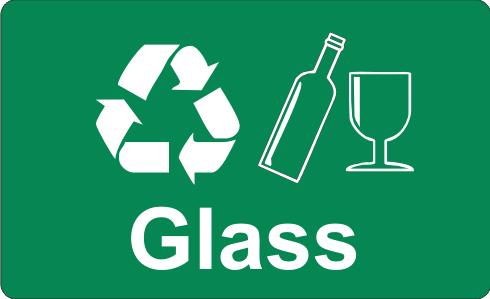 Recycling Sticker - Glass