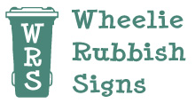 Recycling Stickers - Wheelie Rubbish Signs