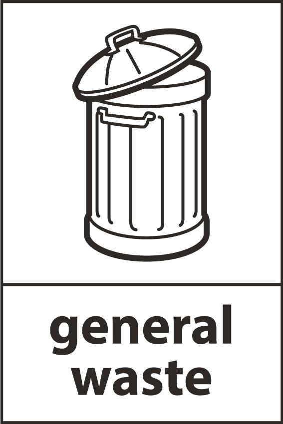 Recycling Sticker General Waste Wrap Compliant