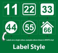 Bin Number Label - Regular