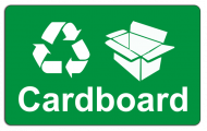 Recycling Sticker - Cardboard