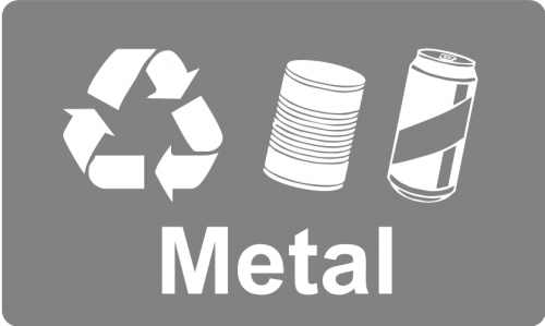 Recycling Sticker - Metal