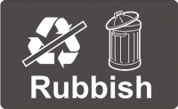 Recycling Sticker - Rubbish