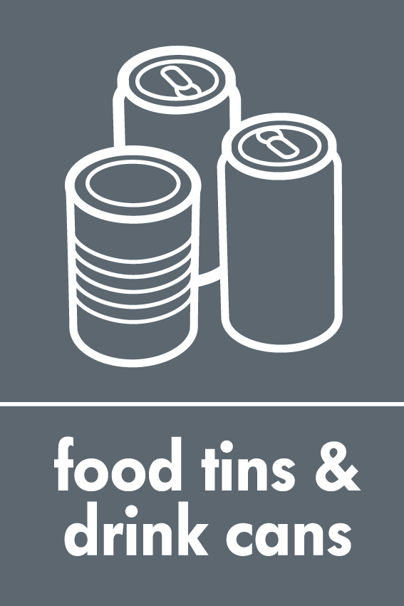 Recycling Sticker Food Tins And Drink Cans Wrap